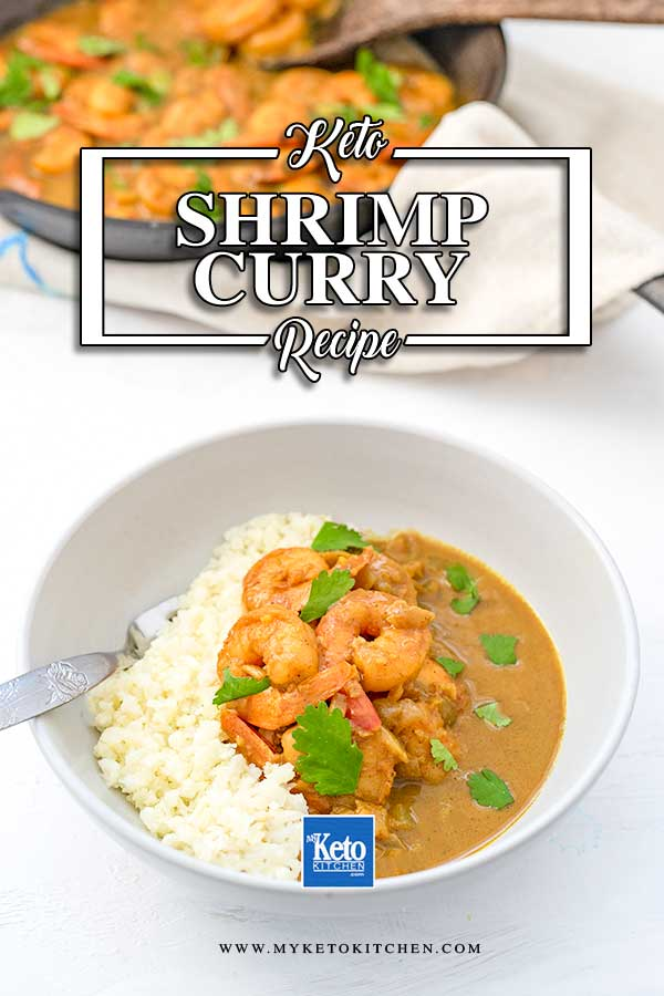 Keto Shrimp Curry - easy dairy free dinner recipe