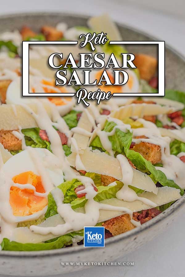 Low Carb Caesar Salad - easy lunch recipe