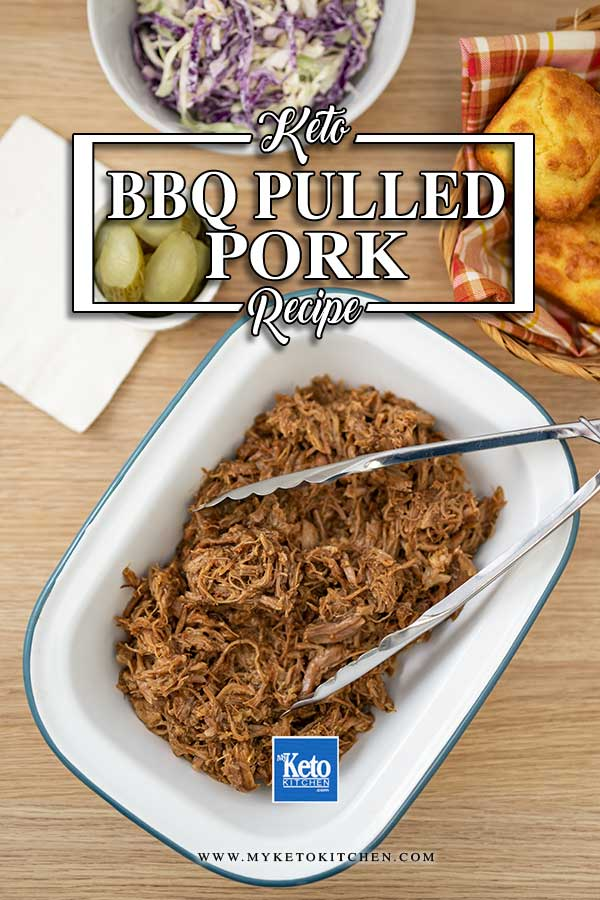Sugar-Free BBQ Pulled Pork - easy keto slow cooker recipe