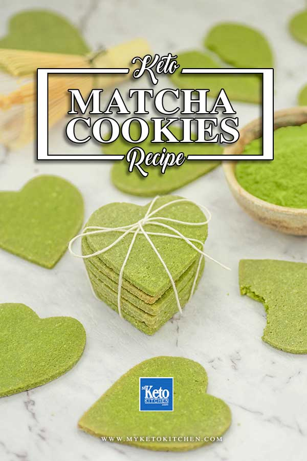 Sugar Free Matcha Cookies Ingredients - easy keto snack recipe