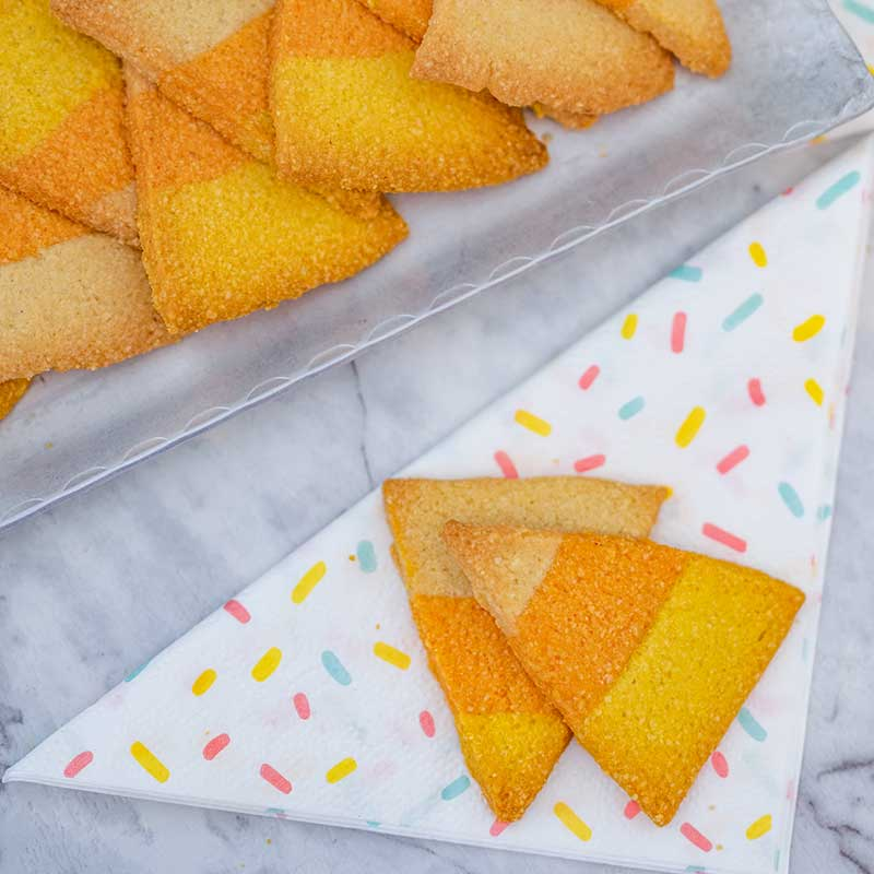 How to make Keto Candy Corn Cookies - easy sugar free halloween recipe