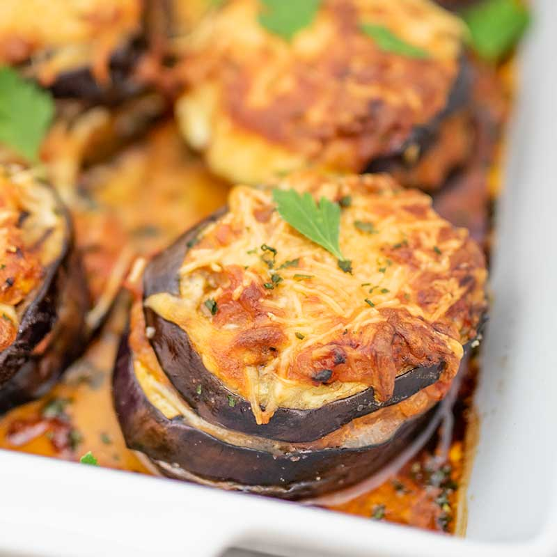 How to make Keto Eggplant Parmesan - easy low carb vegetarian recipe