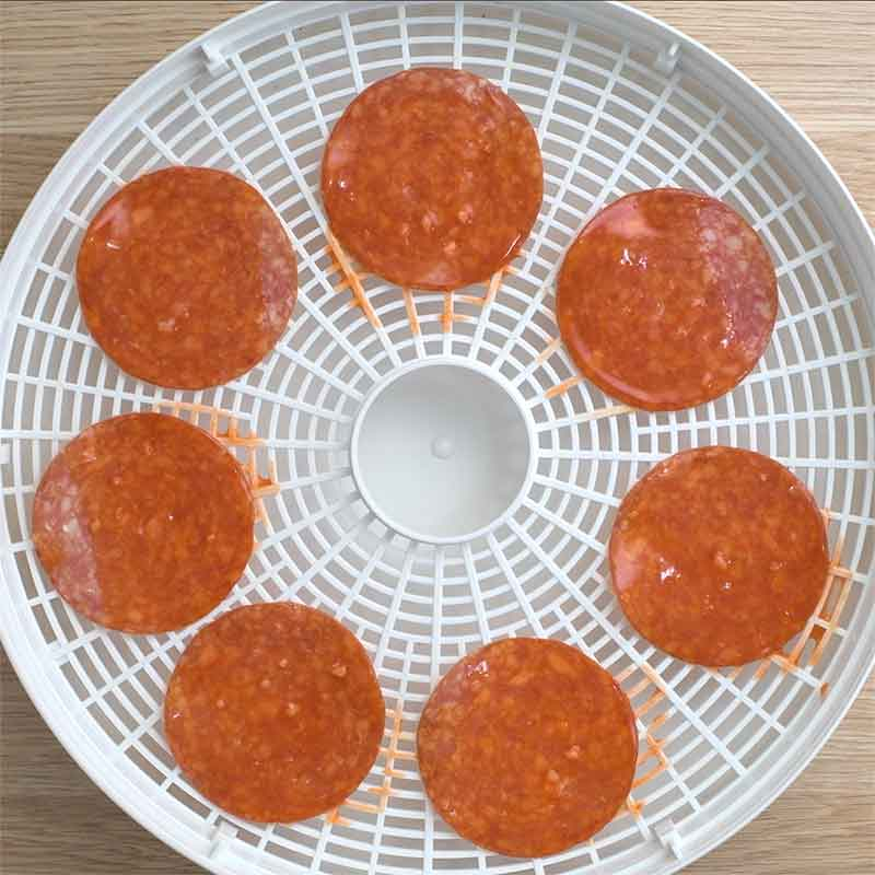 How to make Hot and Salty Salami Chips in a food dehydrator