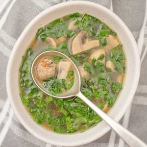 Keto Italian Wedding Soup - delicious broth recipe