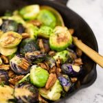 Keto Maple Pecan Brussels Sprouts - easy side dish recipe