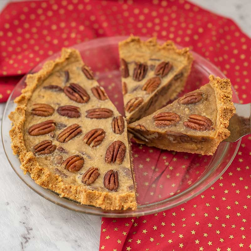 Keto Pecan Pie - easy sugar free dessert recipe