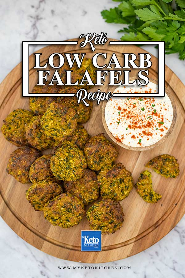 Low Carb Cauliflower Falafels - easy keto vegetarian recipe