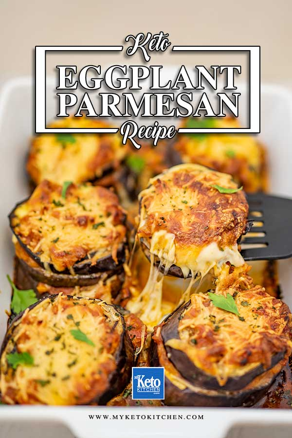 Low Carb Eggplant Parmesan - easy keto vegetarian recipe