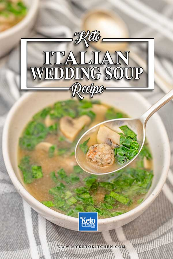 Low Carb Italian Wedding Soup - delicious keto broth recipe