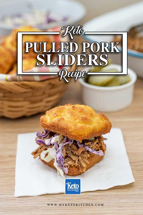 Low Carb Pulled Pork Sliders - easy keto burger recipe