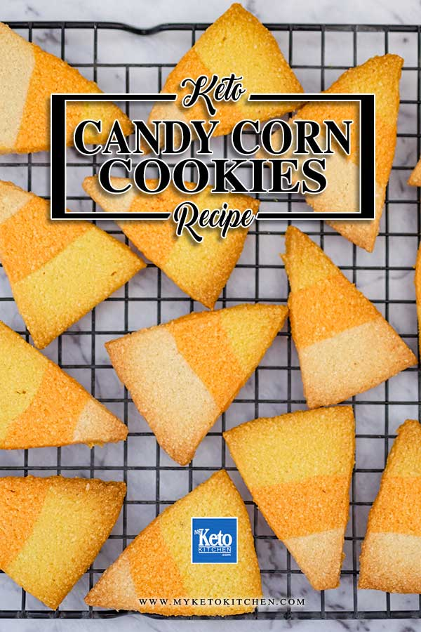 Sugar-Free Candy Corn Cookies - easy keto halloween recipe
