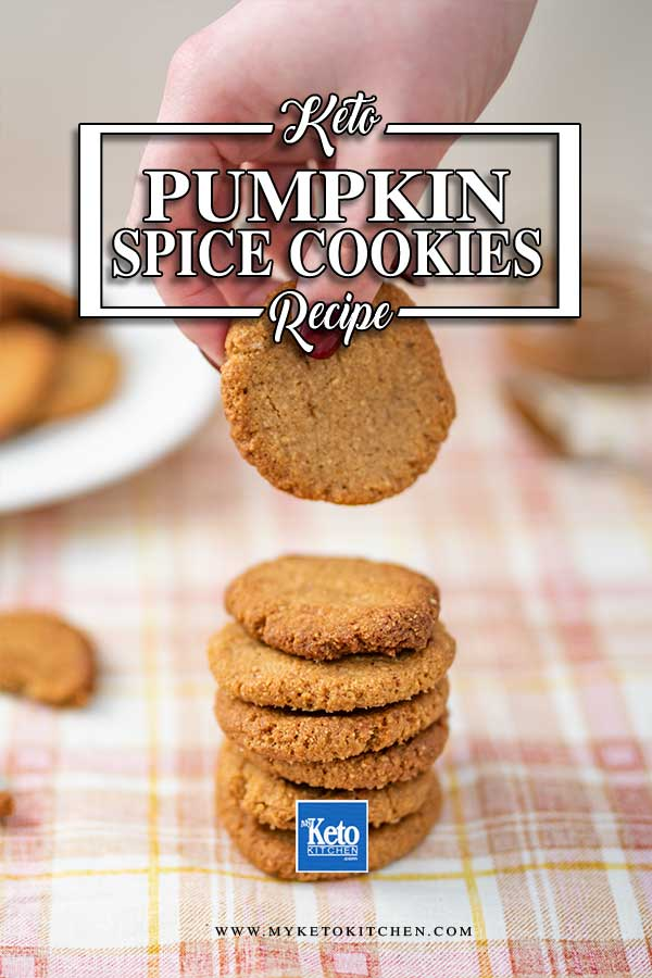 Sugar Free Pumpkin Spice Cookies - easy keto cookies recipe