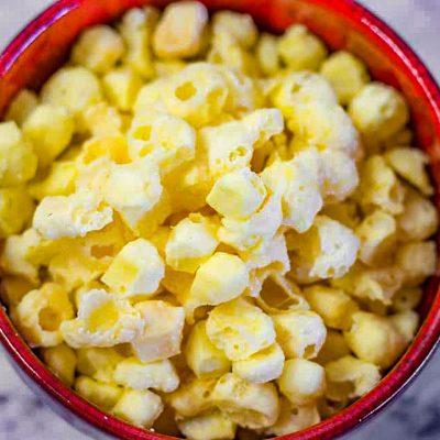 Keto Popcorn Cheese Puffs Recipe – One Ingredient