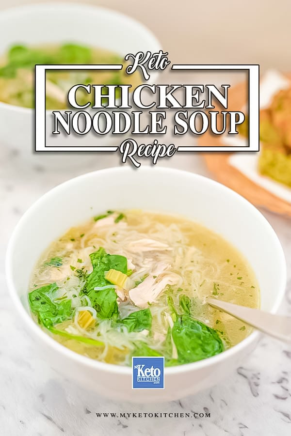 Easy Keto Chicken Noodle Soup