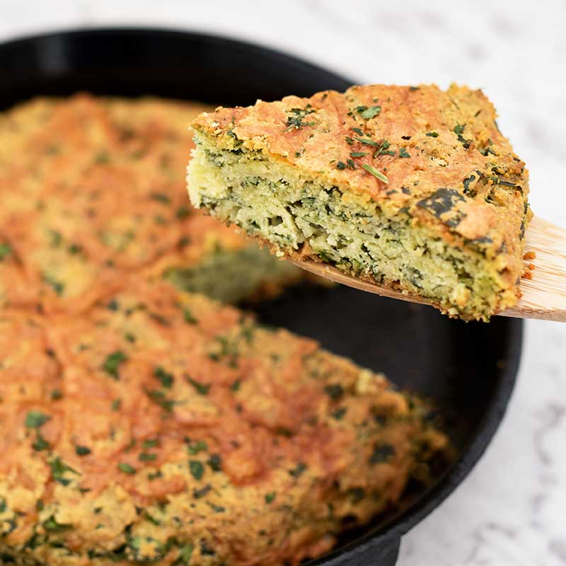 How to make Keto Cheesy Spinach Bread Ingredients - easy quick bread recipe
