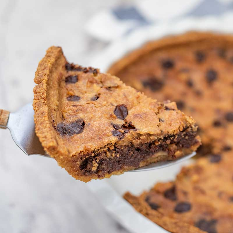 How to make Keto Chocolate Chip Pie - sugar free dessert recipe