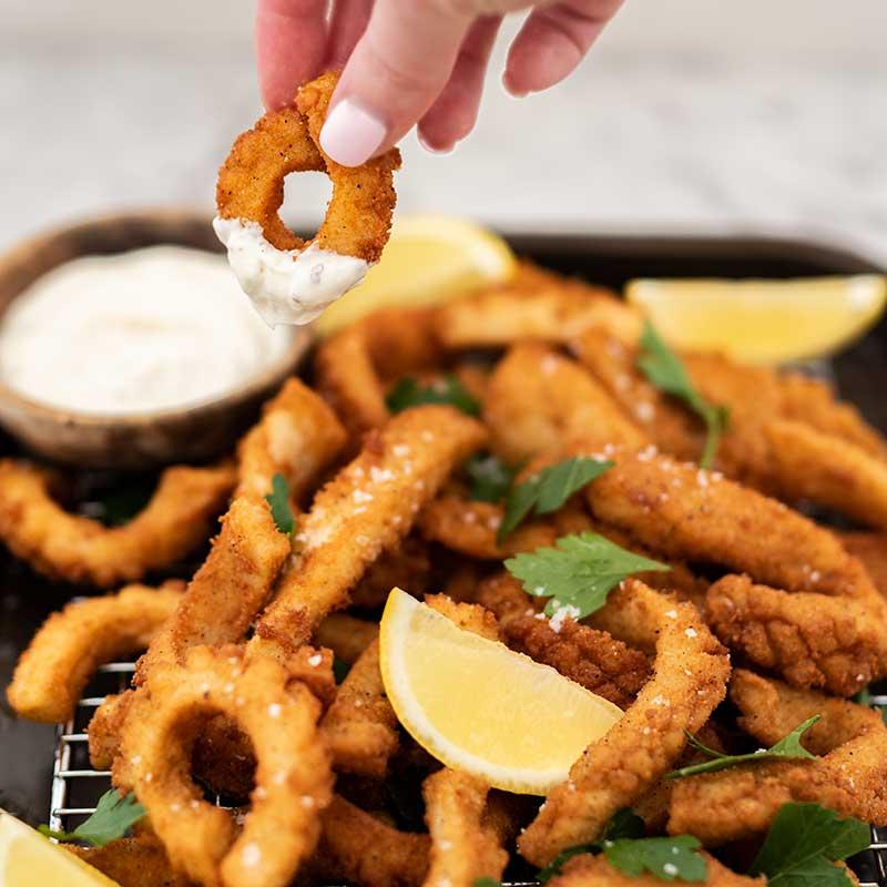 How to make Keto Salt and Pepper Squid - fried calamari recipe