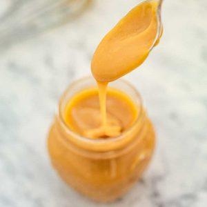 Keto Caramel Sauce - sugar free topping recipe