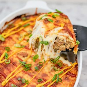 Keto Cheeseburger Casserole - easy baked recipe