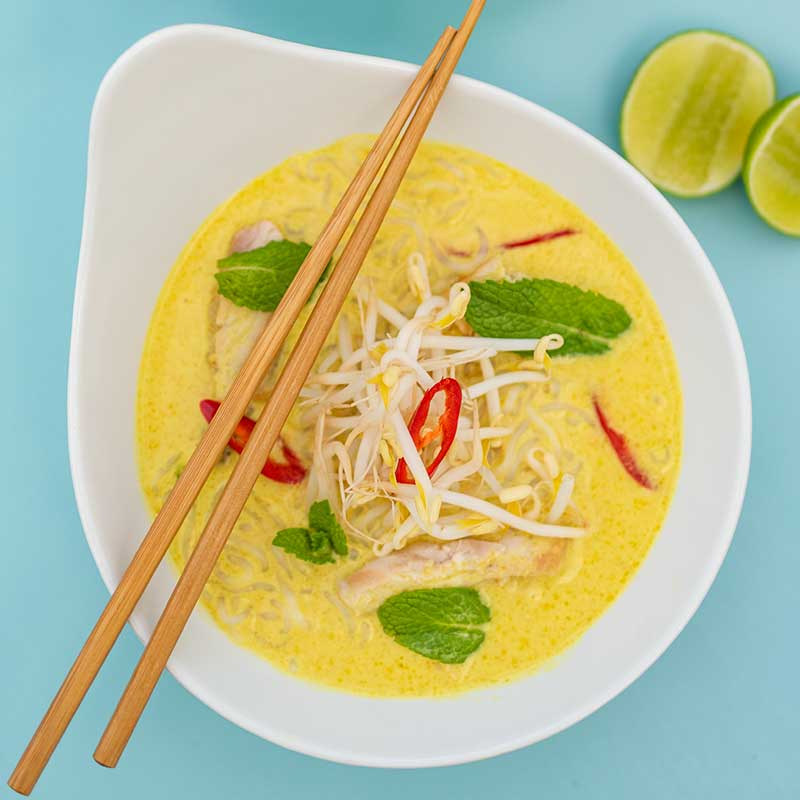 Keto Chicken Laksa - delicious asian soup recipe