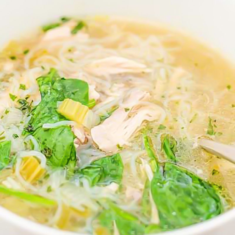 Keto Chicken Noodle Soup