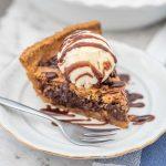 Keto Chocolate Chip Pie - sugar free dessert recipe