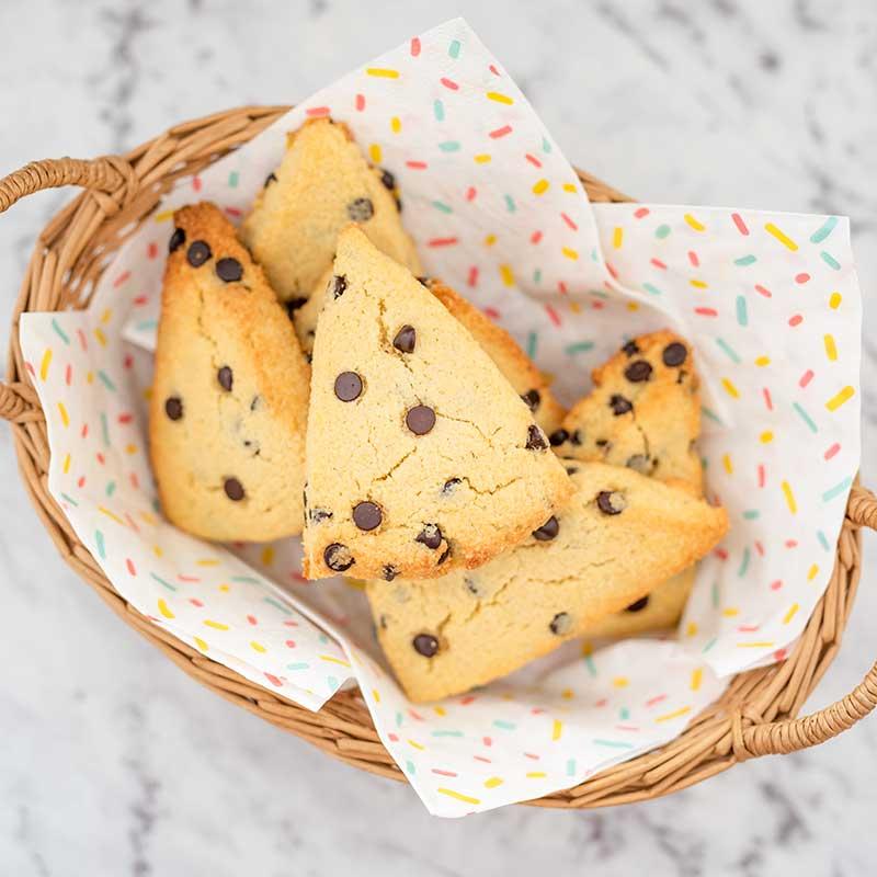 Keto Chocolate Chip Scones - easy recipe