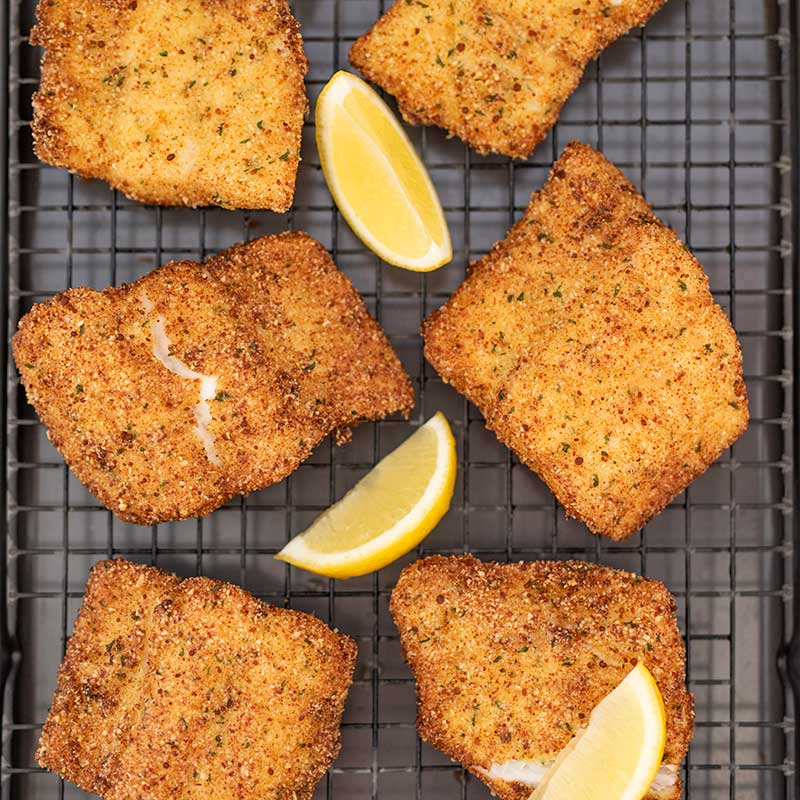 Keto Fried Fish - Breaded & Crumbed
