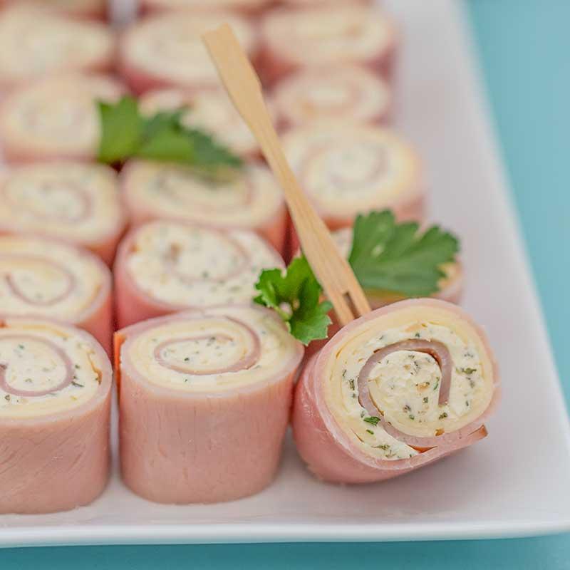 Keto Ham Roll Ups - easy snack recipe