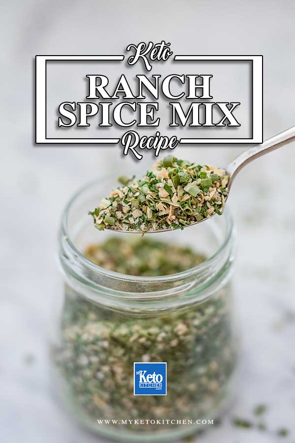 Keto Ranch Spice Mix - easy keto condiment recipe