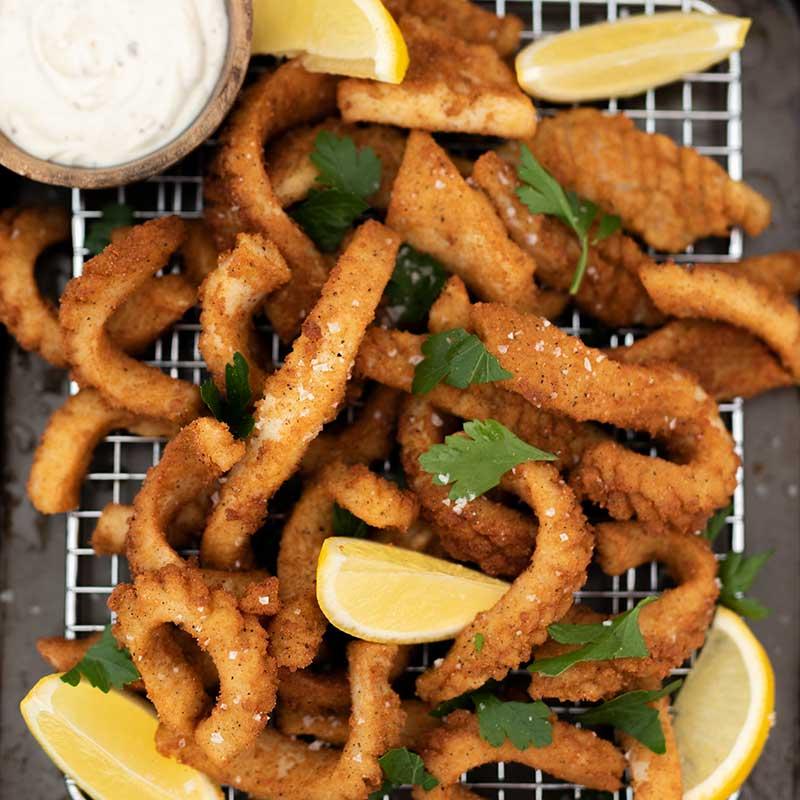 Keto Salt and Pepper Squid - fried calamari recipe