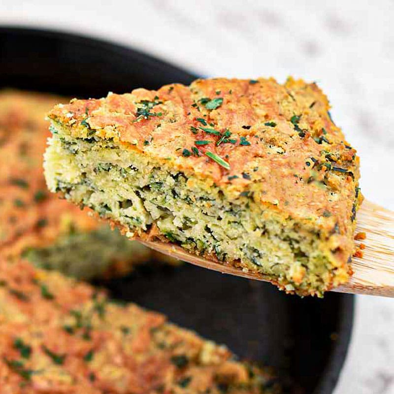 Keto Spinach Bread with Cheese