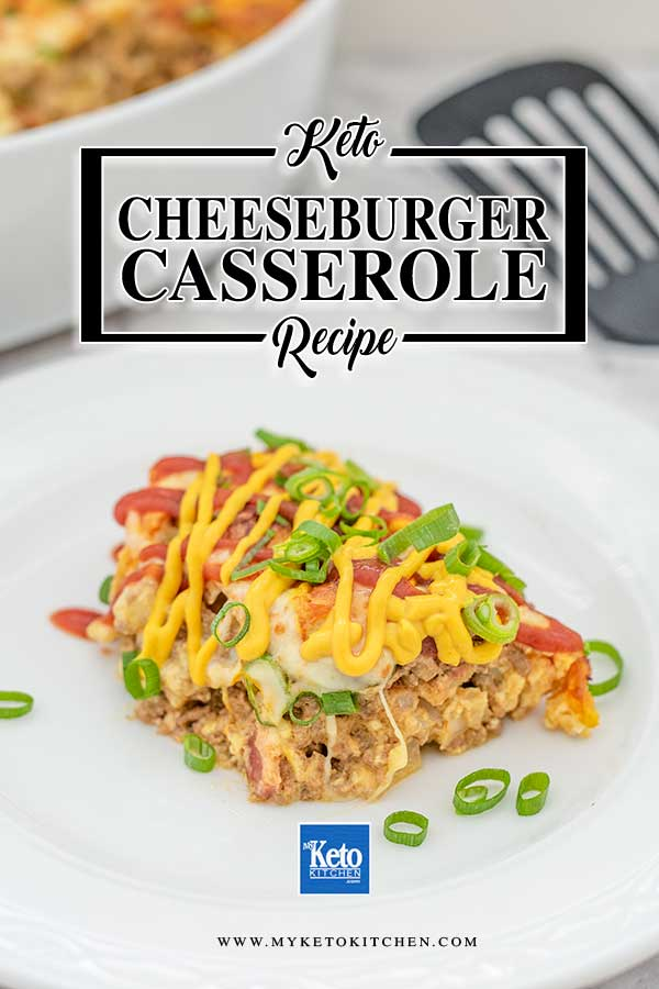 Low Carb Bacon Cheeseburger Casserole - easy keto baked recipe
