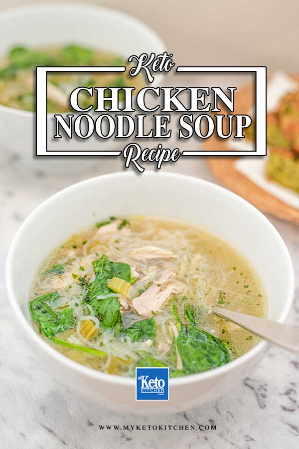 Low Carb Chicken Noodle Soup - easy keto soup recipe