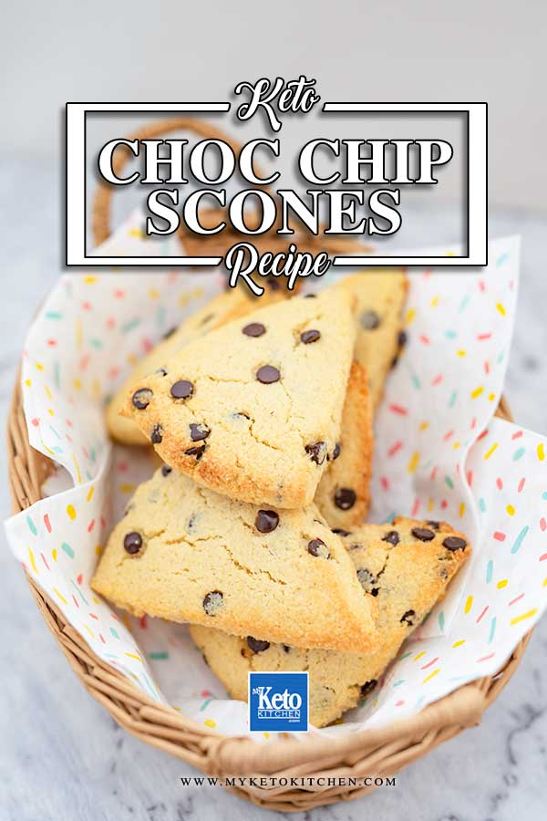 Low Carb Chocolate Chip Scones - easy keto recipe