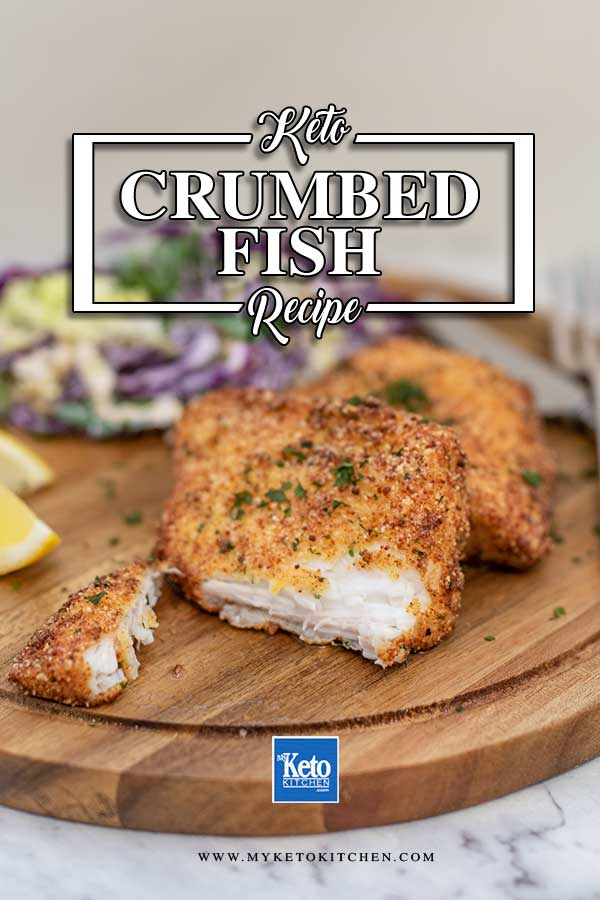 Low Carb Crumbed Fish - easy keto fried fish recipe