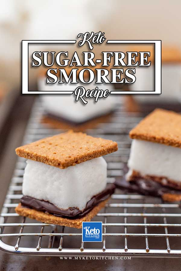 Low Carb Smores Ingredients - easy sugar free campfire recipe