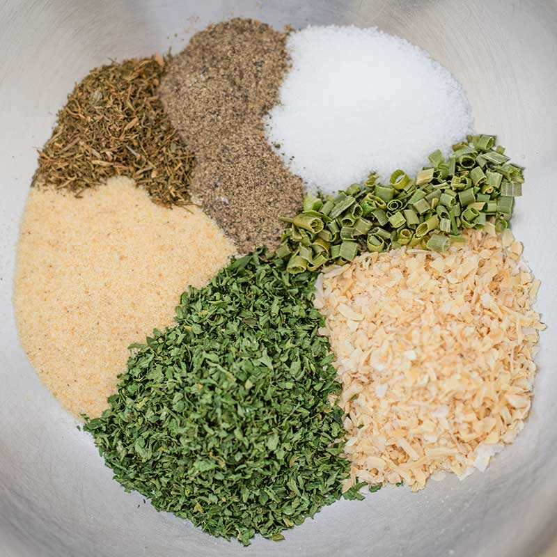 Ranch Spice Mix Ingredients - easy keto condiment recipe