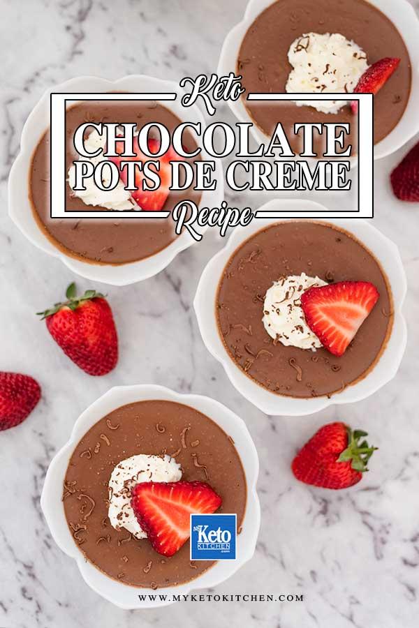 Sugar-Free Chocolate Pots De Creme - keto chocolate custard recipe