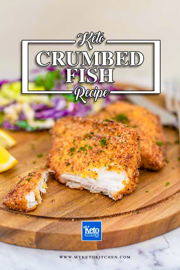 Keto Fried Fish Recipe Breaded and Crumbed