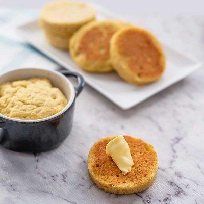 Keto 90 Second Bread – Quick Easy Microwave English Muffin Recipe