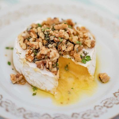 Keto Baked Brie Cheese with Maple & Walnuts – Easy Appetizer Recipe