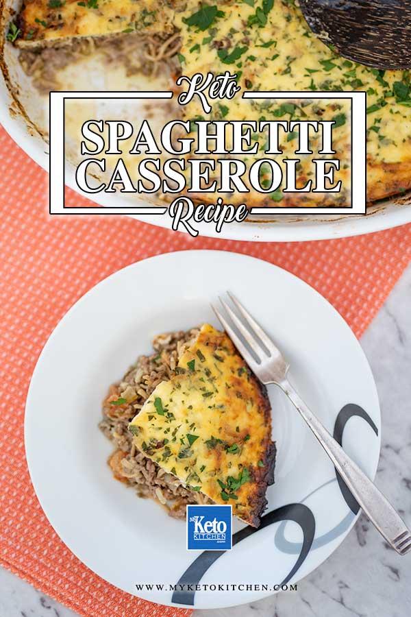 Keto Beef Spaghetti Casserole - easy recipe