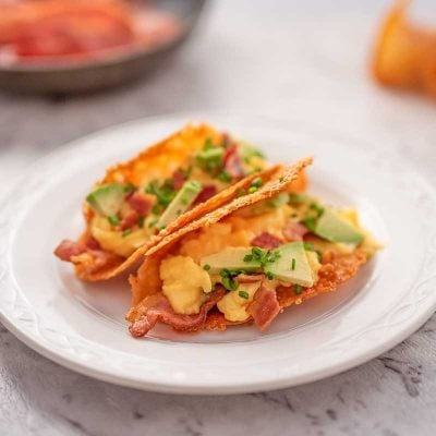 Keto Breakfast Tacos Recipe – With Scrambled Eggs and Bacon