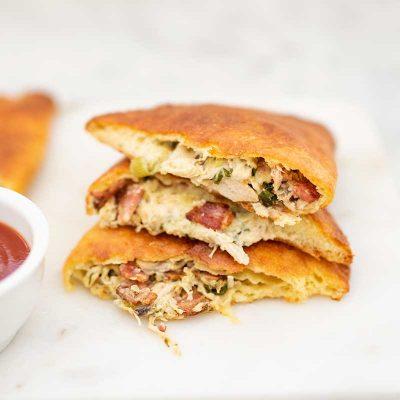 Keto Chicken Bacon Calzones – Delicious Stuffed Pizza Rolls Recipe