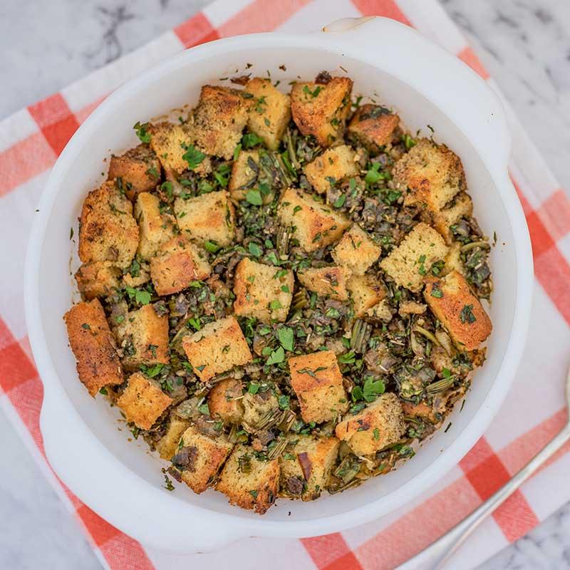 Keto Cornbread Stuffing - southern dressing recipe