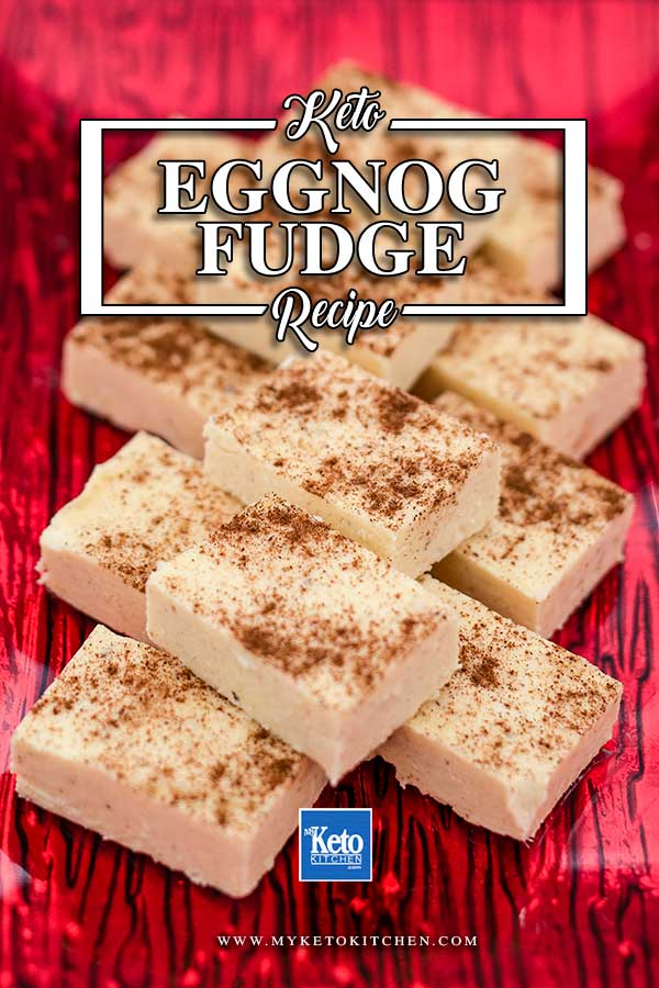 Keto Eggnog Fat Bombs - easy fudge recipe