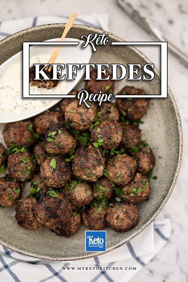 Keto Greek Meatballs - easy Keftedes recipe