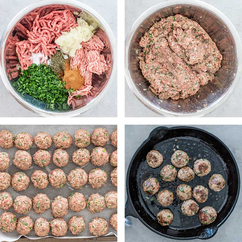 Keto Keftedes Ingredients - Greek Meatballs recipe