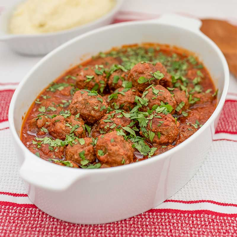 Keto Moroccan Beef Meatballs - easy slow cooker recipe